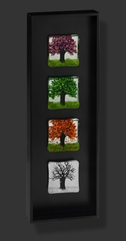"Four Seasons Vertical 8"" x 22"" $350"