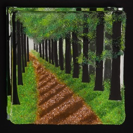 "Curved Forest Path 10"" x 10"""