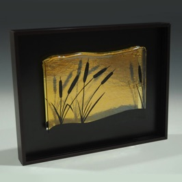 "Engraved Cattails 9"" x 7"""